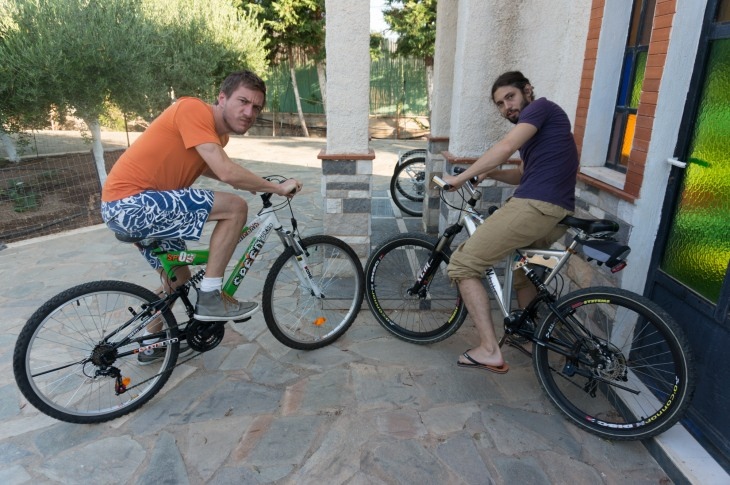 Bikes to the beach.